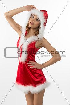 portrait of sexy christmas girl