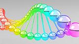 Digital illustration of dna structure in 3d.