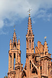 Gothic towers of St. Anna's Church in Vilnius,  Lithuania.