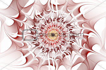 Fractal - abstraction in red colors