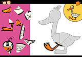 cartoon farm goose puzzle game