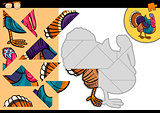 cartoon farm turkey puzzle game