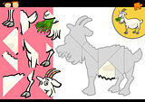 cartoon farm goat puzzle game