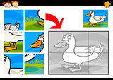 cartoon duck jigsaw puzzle game