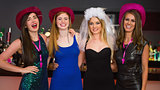 Smiling friends having hen party