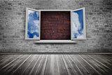 Open window on wall