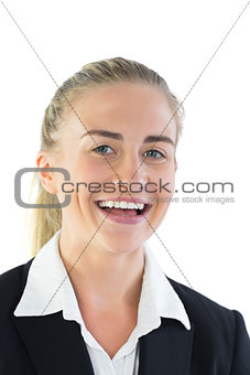 Portrait of cheerful young businesswoman