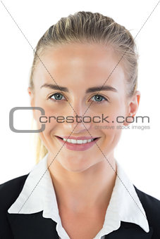 Portrait of attractive blonde businesswoman