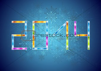 Bright Christmas vector background