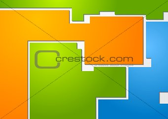 Abstract multicolored shapes vector design