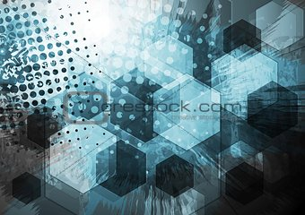 Abstract grunge technology design