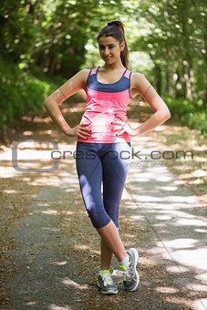 Cute young woman wearing sportswear