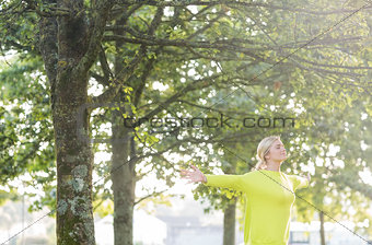 Fit pretty blonde enjoying the sun