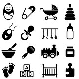 Baby and birth icons