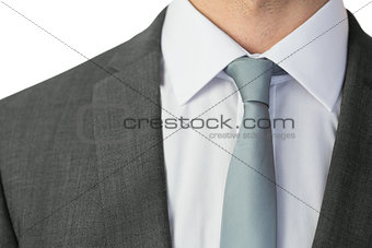 Close up of businessman wearing a tie