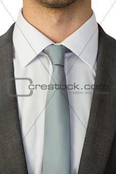 Close up of businessman wearing a tie and jacket