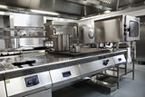 Picture of fully equipped professional kitchen