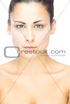 Portrait of gorgeous woman looking at camera