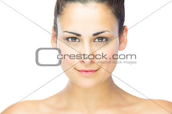 Portrait of gorgeous woman smiling at camera