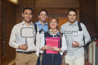 Mature college class posing