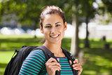 Casual smiling student looking at camera