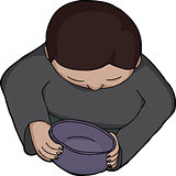 Person Holding Empty Bowl