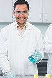 Male researcher carrying out experiments in the lab