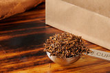 Measuring spoon of rooibos tea