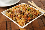 Pepper steak fried rice