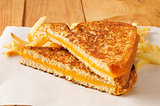 Grilled cheese sandwich with fries
