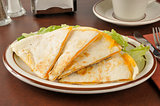 Cheddar cheese quesadillas