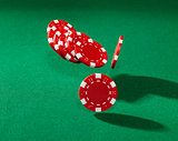 Red poker chips
