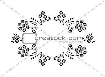 Abstract floral frame. Element for design.