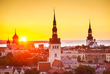 Tallinn Estonia Sunset