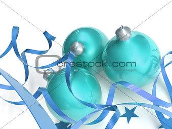 blue christmas toys