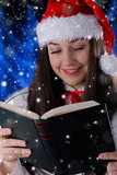 Christmas Girl Reading