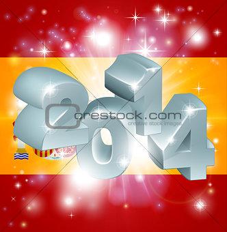 2014 Spanish flag