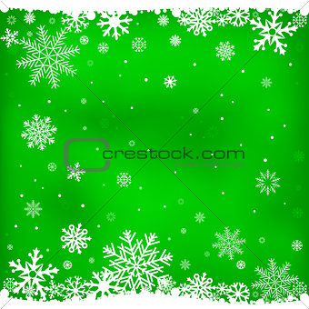 green snow mesh background