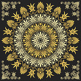 vector floral gold Greek ornament