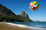 International football soccer ball Rio de Janeiro Brazil