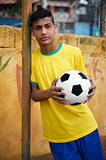 Young Brazilian soccer football player