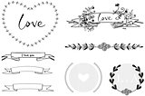 Wedding graphic hand-draw set