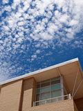 modern building blue sky