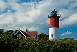 Nauset Lighthouse on Massachusetts Cape Cod.