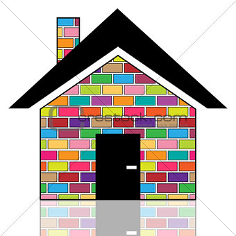 A colorful house