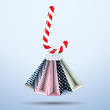 Vector Background colorful shopping bags Sweet Christmas