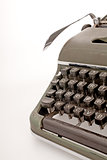 Old mechanical typewriter