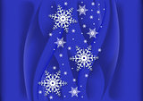 Abstract background with snowflakes
