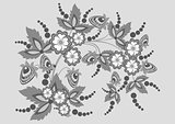 Abstract floral branch