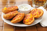 Potato skins iwth bacon and cheese
